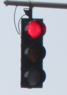 stoplight on red